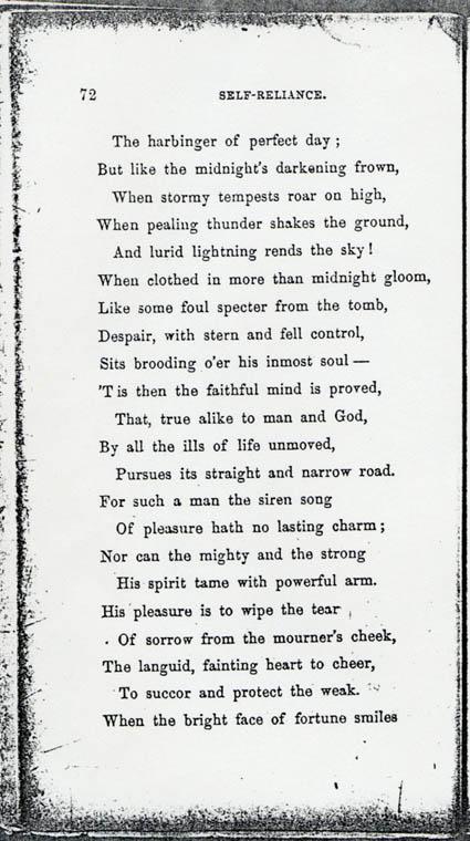 self reliance poem
