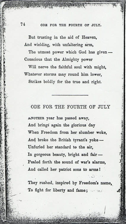 James M. Whitfield&#39;s America and Other Poems: &quot;Ode for the Fourth ...